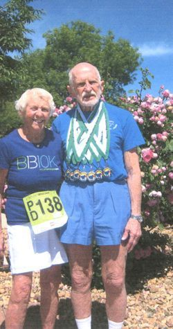 Jan and Ted are active seniors who participate in athletic events in Colorado.