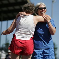 WA State Senior Games - Athletes hugging