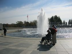 Senior-friendly features at the WWII Memorial