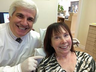 Joan enjoying a dental checkup
