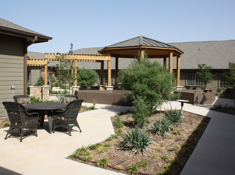 Legacy Ranch Alzheimer's Special Care Center - Midland, TX - Patio
