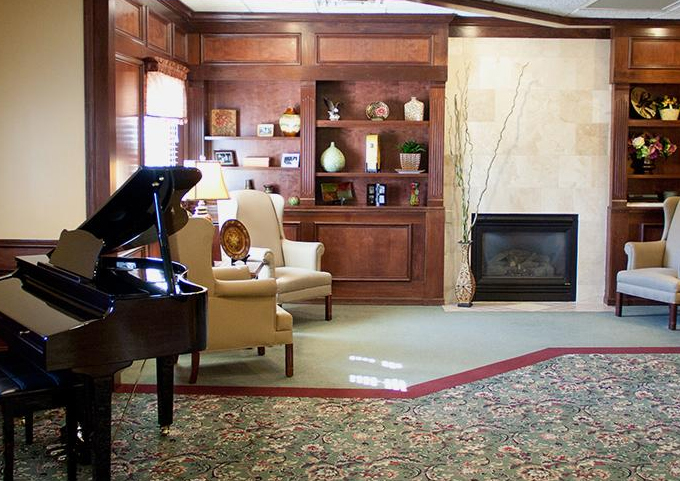 Oakley Courts Assisted Living - Freeport, IL - Piano Lounge