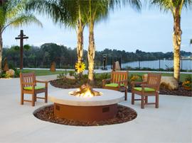 Osprey Lodge - Tavares, FL - Fireplace Patio