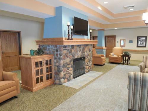 Oxford Glen at Sachse, TX - Fireplace Lounge