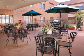 Pacific Pointe Retirement Village - Chula Vista, CA - Patio