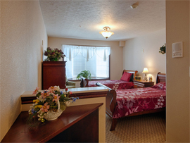 Pacifica Senior Living Pinehurst, ID - Apartment Bedroom