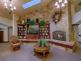 Pacifica Senior Living Pinehurst, ID - Fireplace Lounge