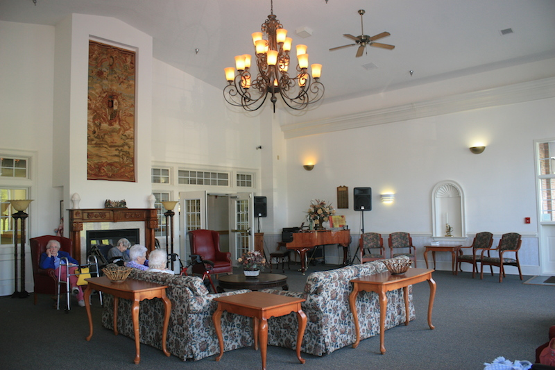 Priddy Manor Assisted Living - King, NC - Fireplace Lounge