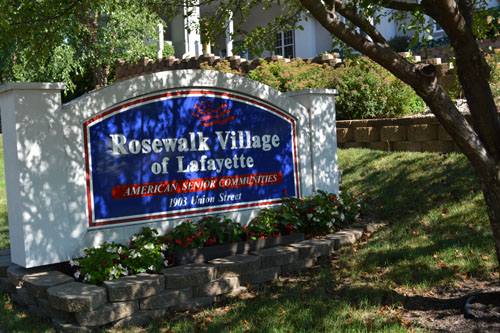 Rosewalk Village of Lafayette, IN - Entrance