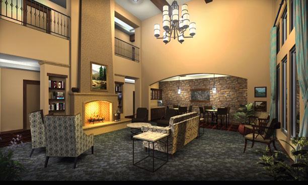 Shavano Park Senior Living - Shavano Park, TX - Fireside Lounge
