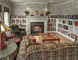 St. Andrews Village Retirement Community - Boothbay Harbor, ME - Fireplace Lounge