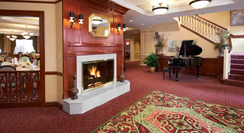 The Bristal at East Meadow, NY - Fireplace Lounge