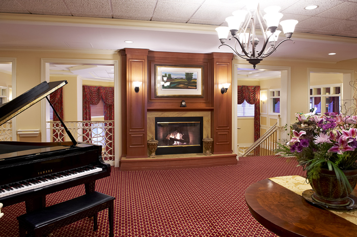 The Bristal at North Hills, NY - Fireplace Lounge