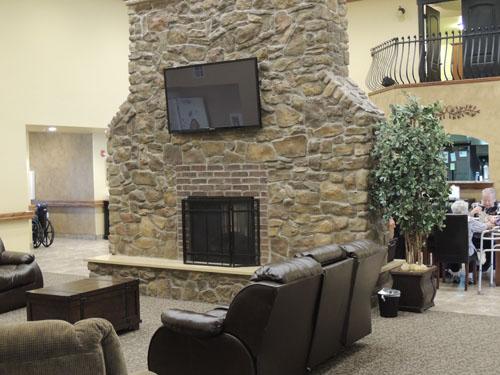 The Gables of North Logan, UT - Big Fireplace