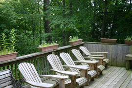 The Woodlands - Glen Ridge, NJ - Deck and Chairs