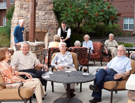 Villa St. Benedict - Lisle, IL - A Gathering of Residents