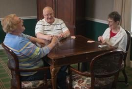 Wesleyan Village -  Elyria, OH - Residents playing cards