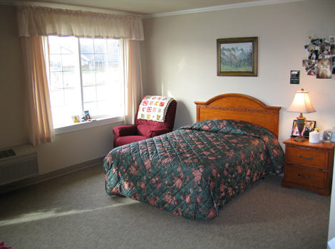 Willow Springs Alzheimer's Special Care Center - Redding, CA - Apartment Bedroom